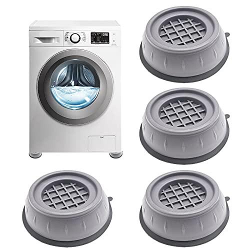 Xionghonglong 4 Stück Waschmaschine Fußpolster,Vibrationsdämpfer,Anti Vibration Waschmaschine Füße,Verstellbares Gummi-Fußpolster,Vibration Dämpfer Pads,Anti-Walk-Fußpolster für Waschmaschin (B)