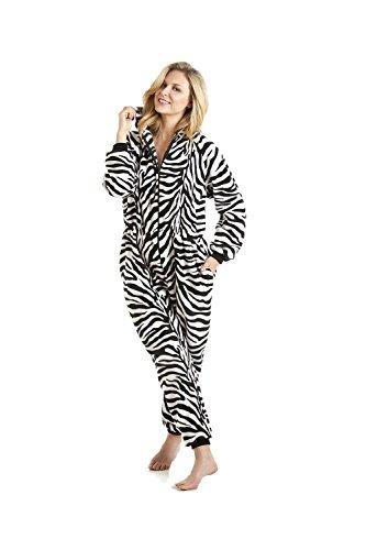 Damen Schlafanzug-Einteiler - Mit Zebra-Muster 42/44, Etikette Gr:M