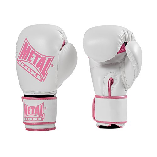 METAL BOXE MB200 Guantes, Mujer, Blanco, Taille 10 oz