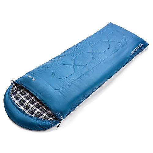 meteor Mummy Schlafsack Ideal für Kinder und Erwachsene - Camping Travel Wandern Trekking Hotel - Leichter kompakter Komfortabel mit Kompressionssack (Blau)
