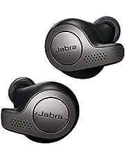 Jabra Elite 65t Earbuds - Passive Noise Cancelling Bluetooth Earphones med fyra mikrofoner för trådlösa samtal och musik - titansvart