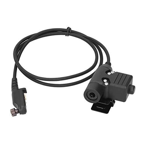 Adaptador de auriculares, metal + ABS Adaptador de PPT U94 para auriculares para auriculares con walkie-talkie