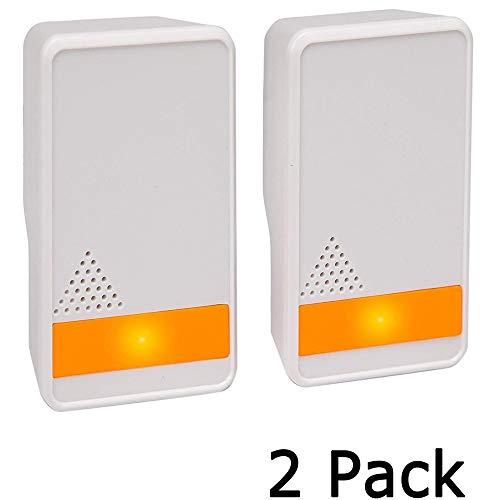 Kjdm Detector de plagas por ultrasonido, para Interiores, para Ratones, chinches, Mosquitos, cucarachas, 2 Protectores electrónicos contra Insectos(Blanco)