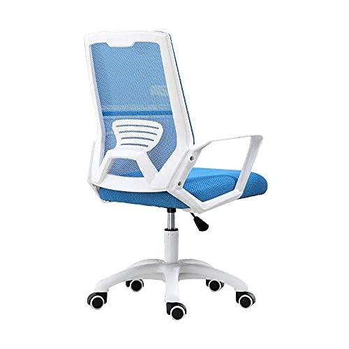 N&O Renovation House Chair Bürostuhl Einteilige Rückenlehne Computerstuhl Erhöhender Drehergonomie Chefsessel für Büro Studentenwohnheim Nenntragfähigkeit: 150 kg Grün