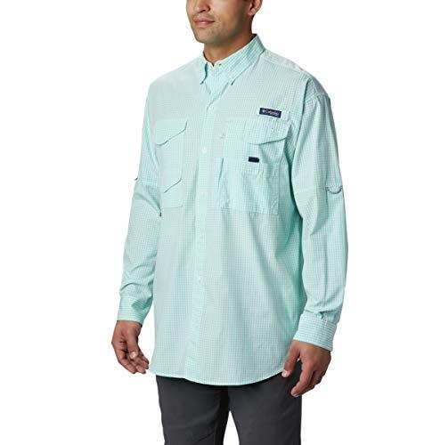 Columbia Men's Super Bonehead Classic Long Sleeve Fishing Shirt (Gulf Stream Gingham, Large)