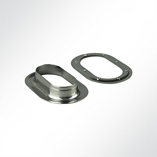 LYSEL® Ovalöse 42x22 mm, (BxL) 22x42mm in grau/Nirosta (10 Stück)
