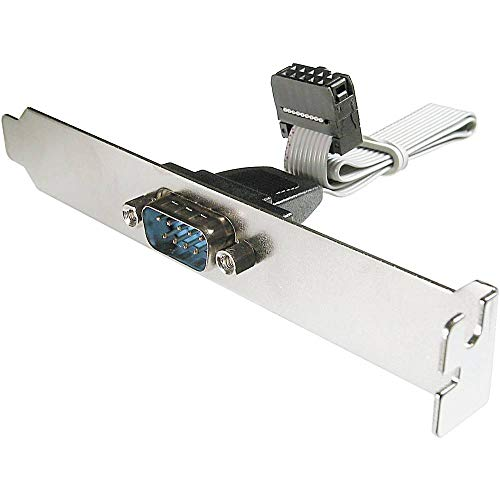 DIGITUS Seriell-Port Slotblech - Adapter-Kabel - IDC 10-Pin zu D-Sub 9 - Buchse zu Stecker - Flachband-Kabel
