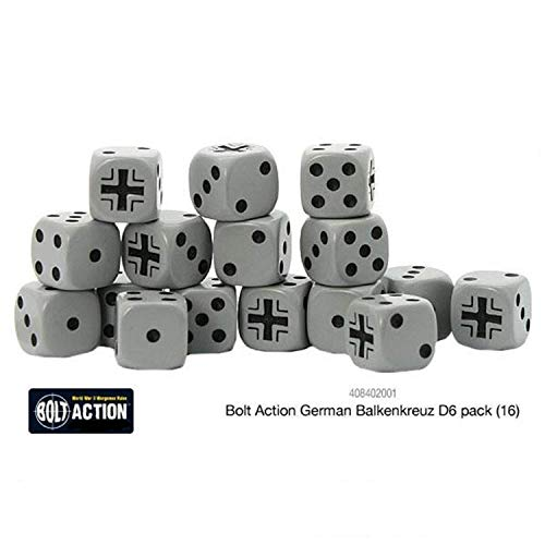 Warlord Games Bolt Action German Balkenkreuz W6 D6 Dice Pack (16)