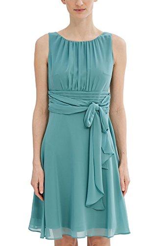 ESPRIT Collection Damen Kleid 027EO1E005, Grün (Dusty Green 335), 38