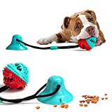 DOTSOG Dog Chew Toy, Pet Molar Bite Toy with Suction Cup Interactive Dog Toys Food Dispensing Chew Toys Durable Treat Dispenser Teeth Cleaner