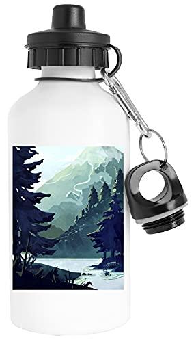 Canadiense Montaña Botella de Agua Acero Inoxidable Viajero Blanco Water Bottle Stainless Steel Traveller White