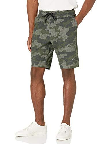 Amazon Essentials Tech Fleece 9' Short Workout-and-Training-Shorts, Camuflaje Verde Oscuro, US M (EU M)