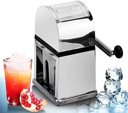 FJPAIPP Kommerzielle Eismaschine Rasierte Eismaschine, Gewerbe und Haushalt, Edelstahl Mini manueller Eisbrecher