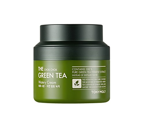 TONYMOLY The Chok Chok Green Tea Watery Cream, 3.38 Fl Oz