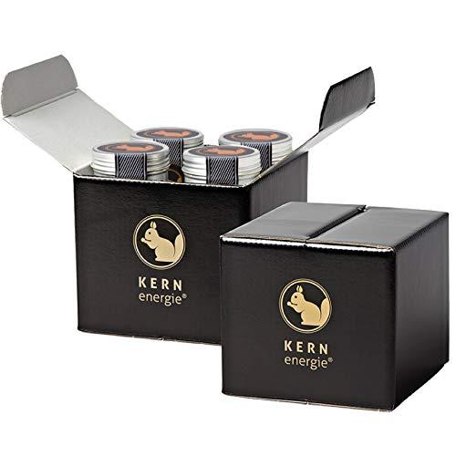 KERNenergie Probier-Set, Nuss-Mischung – Nüsse-Mix, schokolierte Nüsse und getrocknete Früchte in Geschenk-Box, edle Geschenk-Idee, 8 x 60 g