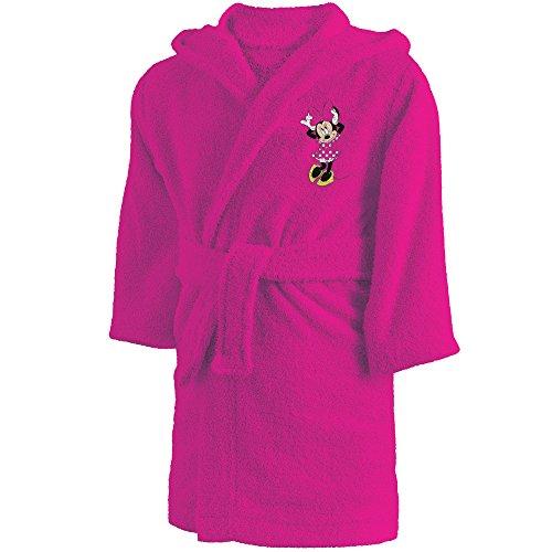 Disney Minnie 043755 Cœur Bademantel, Baumwolle, rosa, 6/8 Jahre, ca. 110-128 cm