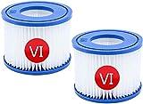 HKYH VI Filtros de repuesto para cartuchos filtrantes VI para piscina Bestway Flowclear Pool Filtros de repuesto para Lay-Z-Spa Miami Vegas Mónaco Talla 6-58323 (2 unidades)