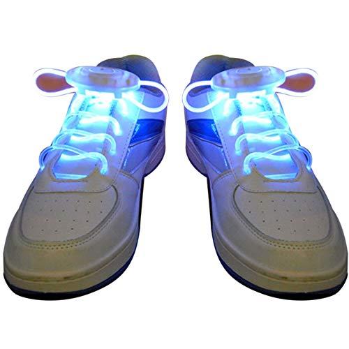 Junyee LED-Schnürsenkel, Multi-Color Light Up Schnürsenkel für Nachtlaufen