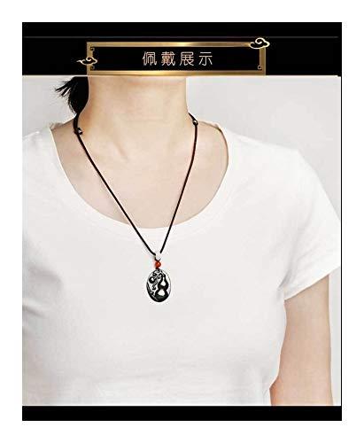 Accesorios Collar de la joyería Blessing Lu Qing Zeng Calabaza Protección Cuerpo se defiende Negro Colgante de Piedra Regalo