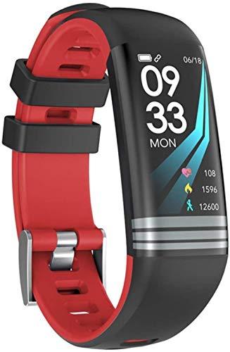 Fitness Mujeres Reloj Inteligente Hombres Podómetro Monitor De Ritmo Cardíaco Presión Arterial Bluetooth Correr Reloj Deportivo Para Android IOS-Rojo