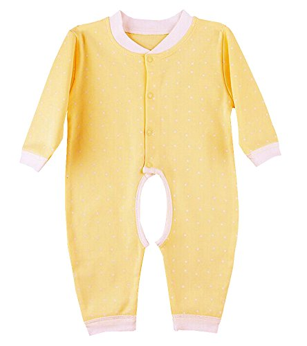 Why Should You Buy Joytton Baby's Snap Front Open-Crotch Romper Long Sleeve 0-18 Months Yellow