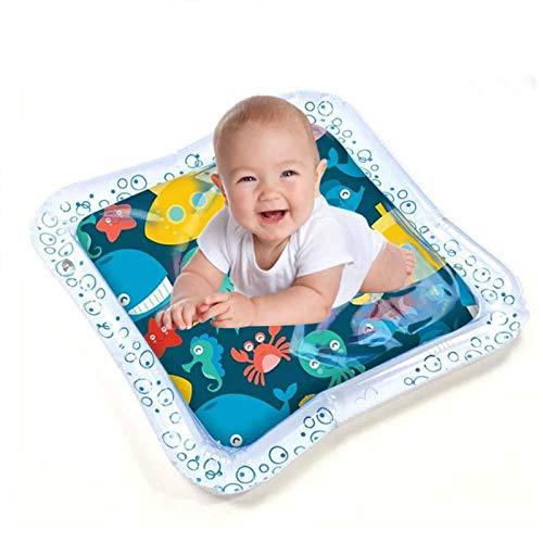 CHICIRIS Alfombrilla de Juego de Agua Tummy Time, Juguetes Tummy Time, Alfombrilla de Agua Inflable Criaturas Marinas para bebés