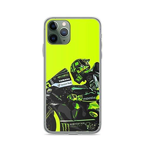 LADIGASU iPhone 11 12 PRO Max XR 6/7/8 SE 2020 Custodia,MotoGP - Va-Len-Tino Rossi - VR46 Soft TPU AntiGraffio Cover