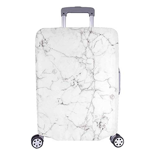 InterestPrint Vintage Marble Stone Luggage Case Protective Baggage Suitcase Cover for 18'-21' Luggage