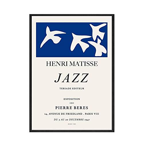 Henry Matisse estilo abstracto geométrico pared arte imagen cartel impresión familia sin marco lienzo pintura A4 50x70cm