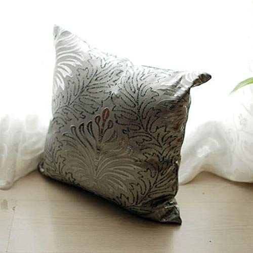 European style silver printed hug pillowcase cushion lumbar cushion square pillow@Photo Color_45*45cm (outer jacket only)