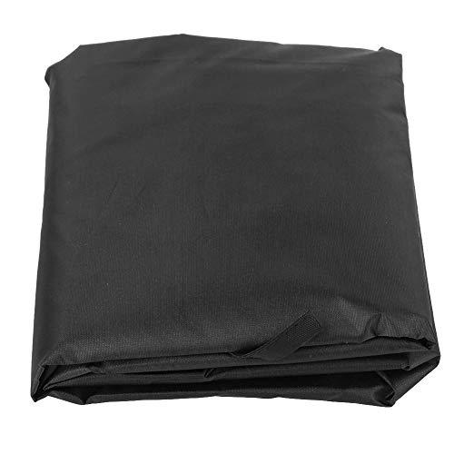 Uxsiya Leicht zu reinigen 3-Sitzer Schaukelkissen Klappbarer Schaukelsitzbezug für Patio(Black)