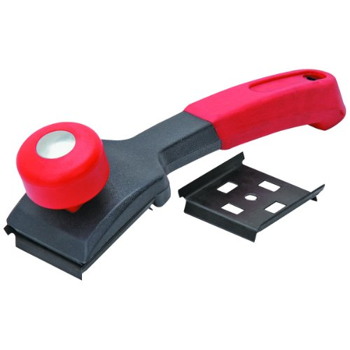 2-1/2 Inch Paint Scraper with 4 Sided Blade and Ergonomic Soft Grip Handle