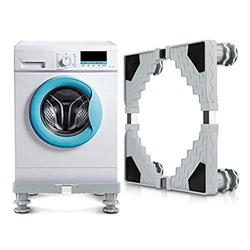 DQM Soporte de la Base de la Lavadora, Base Ajustable Multifuncional, Mantenga Sus Muebles alejados del Agua, evite el óxido, se Utiliza para secadoras y refrigeradores
