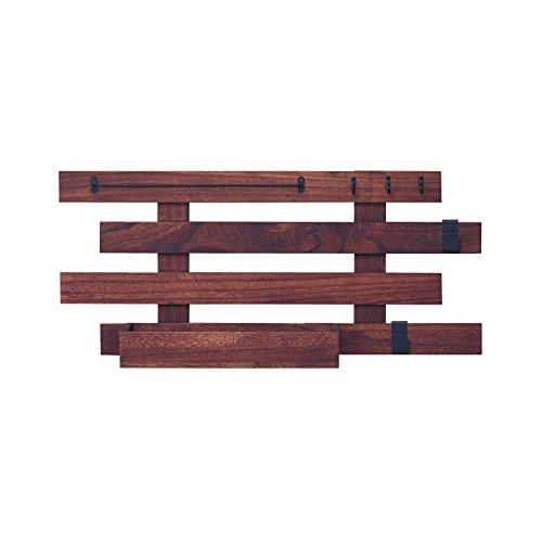 [ベルメゾン] 壁にかけられる桐すのこラック ダークブラウン タイプ/奥行(cm):D:アクセサリー/17