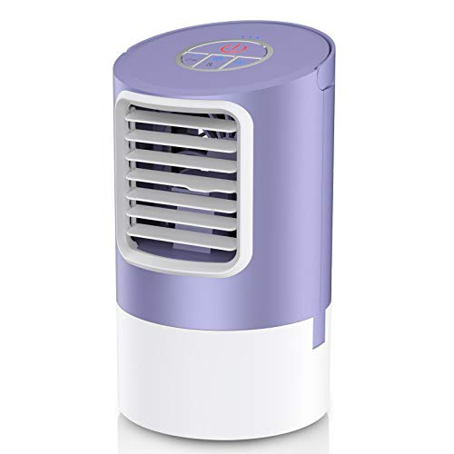 Personal Air Cooler, Mini Space Cooler, Desktop Air Conditioning Fan with 3 Wind Speeds, Compact Evaporative Cooler Air Humidifier, Clean Tank Technology, Perfect for Office Dorm Nightstand