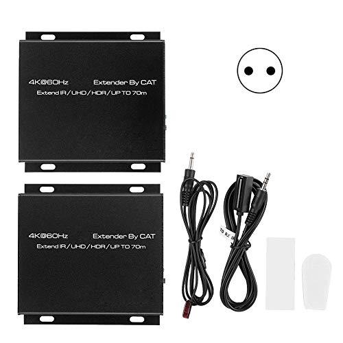 Semiter Extensor Adaptador Convertidor Ethernet Transmisor HDMI Extensor HDMI Captura de Retrato de una Sola línea para cámara Seguridad(European regulations)
