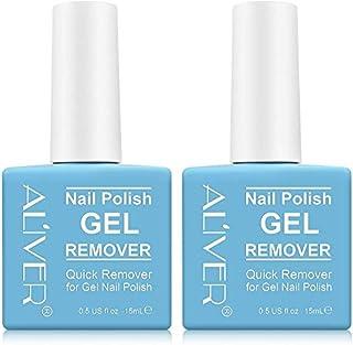 Magic Nail Polish Remover 2 pcs Removedor de Esmalte de Gel Profesional Elimina el Esmalte de Uñas en Gel en 2-3 Minutos...