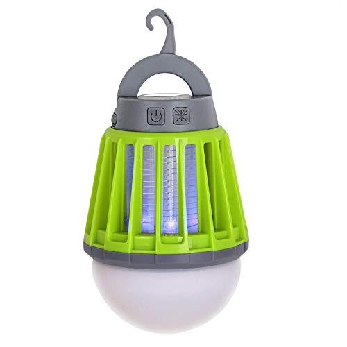 Lampada Anti Zanzara, 2-in-1 Zanzariera Elettrica Campeggio Portatile Lampada Tenda Ricaricabile, IPX6 Impermeabile Lampada Antizanzare da esterno con 3 livelli di luminosità per Giardino, Campeggio