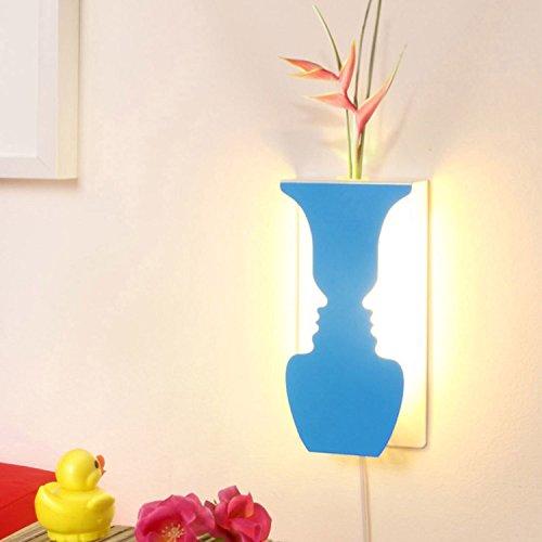 Lo+DeModa HCN1756-2 LED bloempot decoratie USB blauw