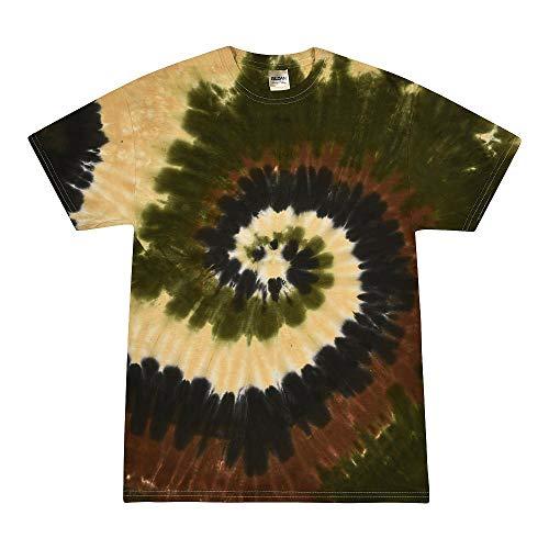 Colortone - Camiseta batik unisex «Swirl» Camo Swirl XL