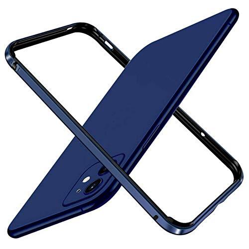 Custodia Rigida Sottile per paraurti in Metallo con Telaio in Alluminio per iPhone 12 PRO Max 12 Mini, Armatura con Telaio in Metallo(for iPhone 12 Mini 5.4'', Dark Blue)