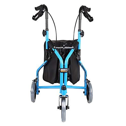 Andador Andadores para Ancianos Andador con Ruedas para Personas Mayores con 3 Ruedas Grandes y Almacenamiento, Andador Vertical Ligero y Plegable para Todo Terreno Al Aire Libre, Altura Ajustable