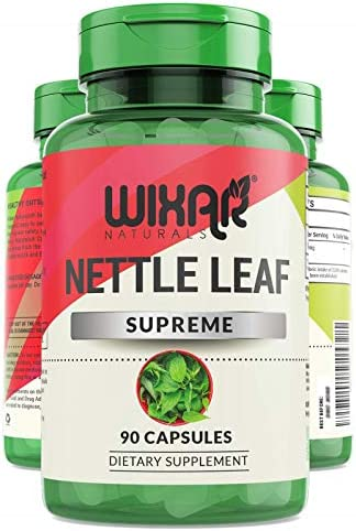 Wixar Naturals Nettle Leaf Capsules 90 Capsules Natural Allergy Response Urinary Health Prostate product image