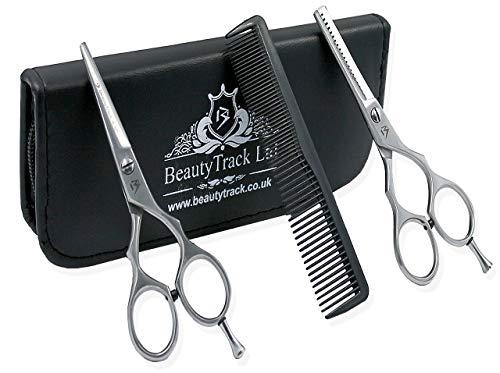 Ciseaux Coiffure Set - Acier Inoxydable Coiffure Ciseaux - Professionnel Ciseaux coupe cheveu - Coupe de cheveux Désépaissir Ciseaux - Cas de Présentation