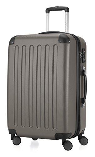 HAUPTSTADTKOFFER - Spree - Hartschalen-Koffer Koffer Trolley Rollkoffer Reisekoffer Erweiterbar, TSA, 4 Rollen, 65 cm, 74 Liter, Graphit