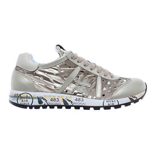 PREMIATA Damen Schuhe Sneakers Lucy D 3659 Leder Fabric Beige Neu