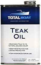 TotalBoat-418279 Teak Oil - Premium Marine Wood Sealer Protects & Preserves Teak on Boats and Outdoor Furniture (1 Quart)