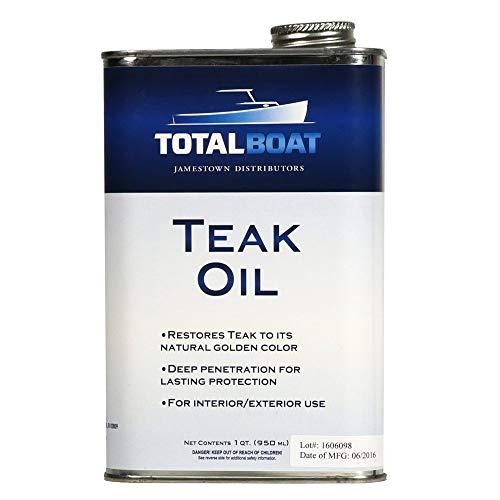 TotalBoat Teak Oil - Premium Marine Wood Sealer Protects & Preserves...