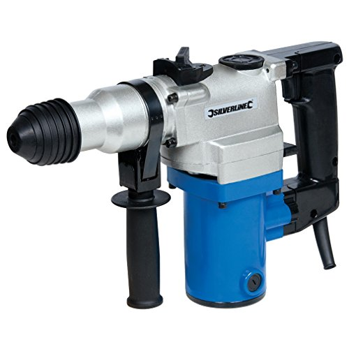 Silverline 633821, Taladro percutor SDS Plus 850 W, Azul/Gris