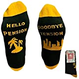Funny Socks for Retirement Gift - Goodbye Tension Hello Pension - Unisex One Size Fits All, If You Can Read This Socks